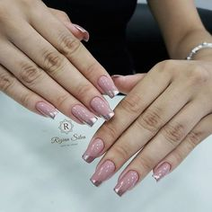 Attractive nails reference number 5160935362 - contemplate this quite charming design planning today. Sns Nails, Gel Nails At Home, Nude Nails, Elegant Nail Designs, Beautiful Nail Designs, Nail Art Designs, Fall Nail Polish, White Acrylic Nails, Wedding Nails Design
