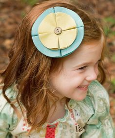 Look what I found on #zulily! Dusty Turquoise Hair Clip by Swanky Baby Vintage #zulilyfinds