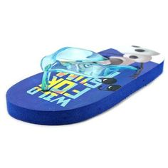 Disney Frozen Wild For Summer Toddler Open Toe Synthetic Blue Flip Flop Sandal