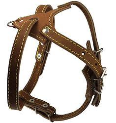 Brown Genuine Leather Dog Harness 16520 Chest size 12 Wide >>> Click on the image for additional details.Note:It is affiliate link to Amazon.