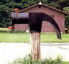 Unique mailbox post Custom Built Strange Mailboxes Around The World Oddee Everything Backyard Homemade Mailbox Ideas General Unique Cool Mailbox Homemade