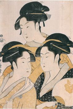 Utamaro Kitagawa Three Women
