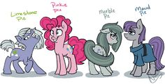 Pie-sisters -GIF- by StaleElephantBones on DeviantArt My Little Pony Cartoon, My Little Pony Drawing, My Little Pony Pictures, Pony Pony, Mlp Pony, Rick And Morty Crossover, Mlp Memes, Childhood Characters, Cartoon Video Games
