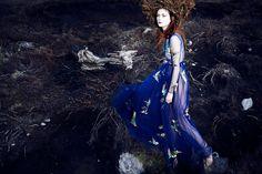 """Nastya Sten and Sophie Touchet in """"Fairy Queen"""" byPhil PoynterforVogue Germany,October 2014"""