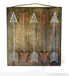Arrow String Art DIY                                                                                                                                                                                 More