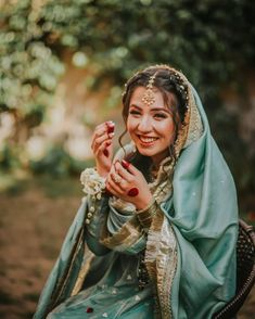 Pakistani Bridal Dresses, Pakistani Outfits, Indian Outfits, Indian Clothes, Indian Aesthetic, Nikkah Dress, Bridal Photoshoot, Wedding Dresses For Girls, Indian Designer Outfits