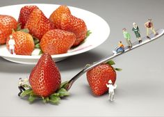 """Lifting Strawberry By A Fork Lever Food Physics Greeting Card for Sale by Paul Ge. Our premium-stock greeting cards are 5"""" x 7"""" in size and can be personalized with a custom message on the inside of the card. All cards are available for worldwide shipping and include a money-back guarantee."""