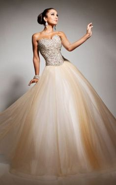 Gold Ball Gown Floor-length Sweetheart Dresses Shop Online - 4p101 - skutocybowls113541
