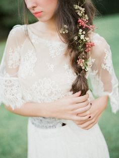 Bridal Hair Inspiration | Adrian Wood Photography | Fine Art Curation | Wedding Sparrow