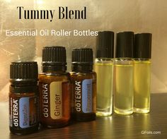 Use essential oils to help calm an upset tummy