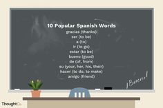 Here's a list of the top 100 Spanish words you need to know. Learn what they are and what each one means in English. List Of Spanish Words, Spanish 101, Spanish Vocabulary List, Spanish Class, Spanish Phrases, Spanish Basics, Spanish Lessons, Learn Spanish, Language Lessons