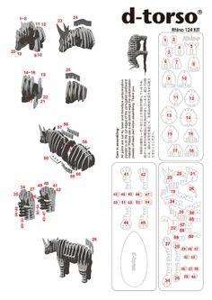 CRAFT :: Animals 2 :: Rhino :: Miniature Size :: RHINO124_gray - d-torso shop | products