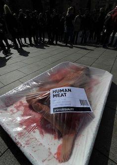 Care for human meat? Animal equality! http://urbanmarketingblog.epimeros.org/?p=149
