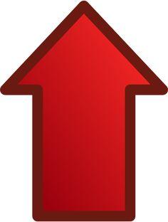 Červená šipka směřující nahoru vektorové grafiky