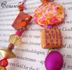 Designer Beaded Bookmark  Samantha by SassyBookBling on Etsy, $18.00
