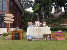 registration table. rustic. garden. guestbook. wedding details. event styling.  ~rangzee