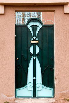 very cool art deco door