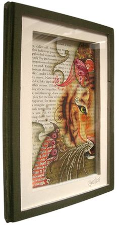 'Tiger Tales' framed Book Art by katiemo