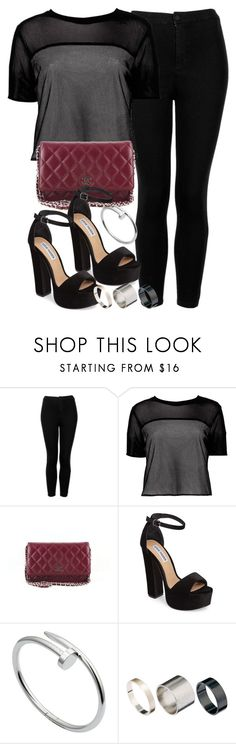 """Sin título #13061"" by vany-alvarado ❤ liked on Polyvore featuring Topshop, Boohoo, Chanel, Steve Madden, Cartier and Just Acces"