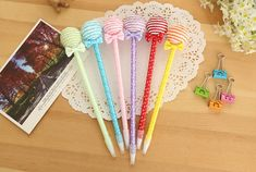 Lollipop ballpoint pen Games Box, Name Signs, Ballpoint Pen, Stationary, Name Labels, Name Tags