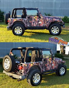 Camo Jeep | The WrapPros @ BB Graphics | bbgraphics.com | #bbgraphics #3MCertified #thewrappros