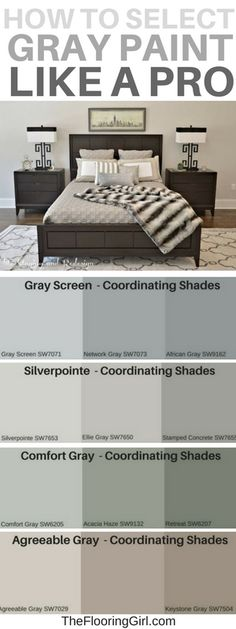are the most popular shades of gray paint? Most popular shades of gray paint and how to select the best gray. Most popular shades of gray paint and how to select the best gray. Shades Of Grey Paint, Grey Paint Colors, Interior Paint Colors, Paint Colors For Home, House Colors, Accent Colors, Neutral Paint, Interior Painting, Green Gray Paint