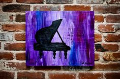 Abstract Acrylic Paintings | 01_lindsey-e-archer-purple-abstract-piano-silhouette-acrylic-painting