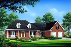 COOLhouseplans.com Plan ID: chp-26549 | 1-800-482-0464    This is the front of the last 2 plans (1st floor and bonus over garage)