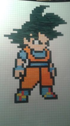 pixel art - Page 23 Pixel Art Dragon Ball, Dragon Ball Z Shirt, Pixel Art Dbz, Modele Pixel Art, Graph Paper Art, Anime Drawings Sketches, Kawaii Chibi, Pattern Pictures, Marvel Wallpaper