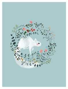 White Squirrel by Francesca Cattaneo, via Behance