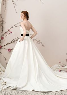 51ae0a4b76a Justin Alexander Signature - Style 9904  Satin Ball Gown with Folded Collar  Sweetheart Neckline Bride