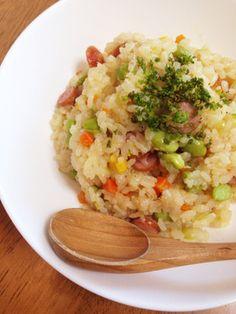 お昼ご飯に最適!炊飯器で簡単ピラフ☆ by ぶーちゃん☆ママ [クックパッド] 簡単おいしいみんなのレシピが271万品