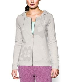 Another great find on #zulily! Under Armour® Silver Heather Kaleidalogo Full-Zip Hoodie by Under Armour® #zulilyfinds