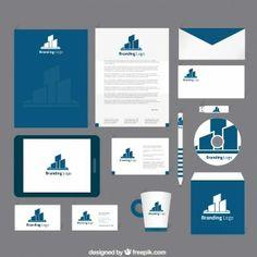 A identidade corporativa no tom azul marinho