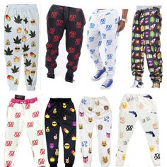Men-Women-Funny-Print-3D-Emoji-emoticon-smiley-Dance-sports-joggers-Pants-Unisex