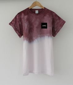 Image of Burgundy Fuse Dip Dye Tee emCOMING SOON/em