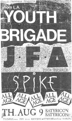 19830809may, youth brigade & JFA
