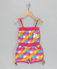 Take a look at this Pink Plaid Romper - Girls by Hot Kiss on #zulily today! Size: 14/16 Price: $14.08
