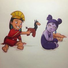 Little Kuzco and Yzma