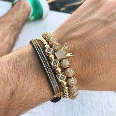 mens jewelry Luxury Jewelry Bracelet Hip Hop Gold Men Jewelry Cubic Micro Pave CZ Charm Bracelets For Women Men Pulseira Bileklik Clean Gold Jewelry, Black Gold Jewelry, Mens Gold Jewelry, Copper Jewelry, Luxury Jewelry, Jewelry Shop, Fine Jewelry, Jewelry For Men, Mens Jewellery