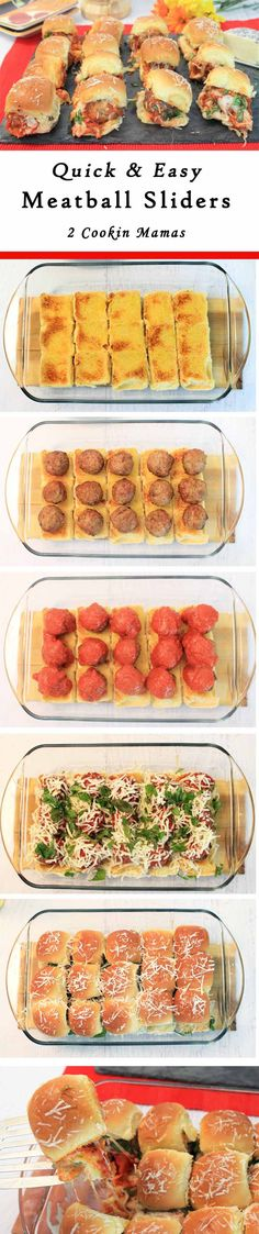 Meatball Sliders | 2 Cookin Mamas A quick & easy dinner or appetizers for the big game, any way you have it - it's delicious!