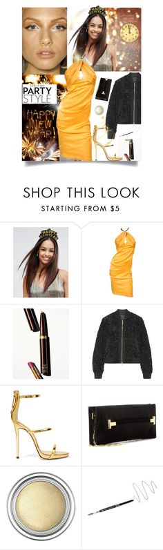 """Happy New Year !"" by sue-mes ❤ liked on Polyvore featuring ASOS, Tom Ford, Elie Saab, Giuseppe Zanotti, Christian Dior, Billion Dollar Brows and L'Oréal Paris"