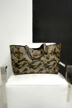Sole Society's oversize camo tote bag is perfect for the gym and overnight trips.