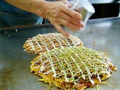 Kansai Style Okonomiyaki Recipe This is one of my grandson's favorite foods.