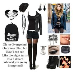 """""""Juliet Simms- Evangeline :3"""" by evangeline-purdy-girl ❤ liked on Polyvore featuring King & Fifth Supply Co., Glamorous, French Connection, IRO, Chicnova Fashion, ABS by Allen Schwartz and ASOS"""