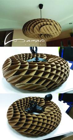 Cardboard lamp