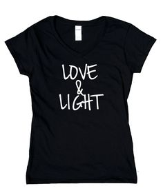 Love And Light Shirt Mediate Yoga Meditation Positive Tee Yogi V-Neck T-Shirt Yoga Meditation, Love And Light, Large Black, V Neck T Shirt, Positivity, Trending Outfits, Sweatshirts, Tees, Clothes