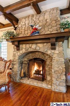 Fireplace? YES!  I'll even take the Mickey on the mantle piece (;