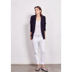 White Boyfriend Jeans from hush Ascot Dresses, Summer Jacket, Denim Shirt Dress, Knit Jacket, Fashion Pants, Boyfriend Jeans, Spring Summer Fashion, Lounge Wear, Women Wear
