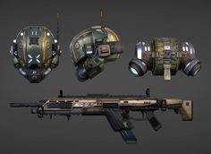 """Reference by """"Titanfall""""  Tools used: Autodesk Max, Photoshop, Zbrush, Marmoset Toolbag 2"""